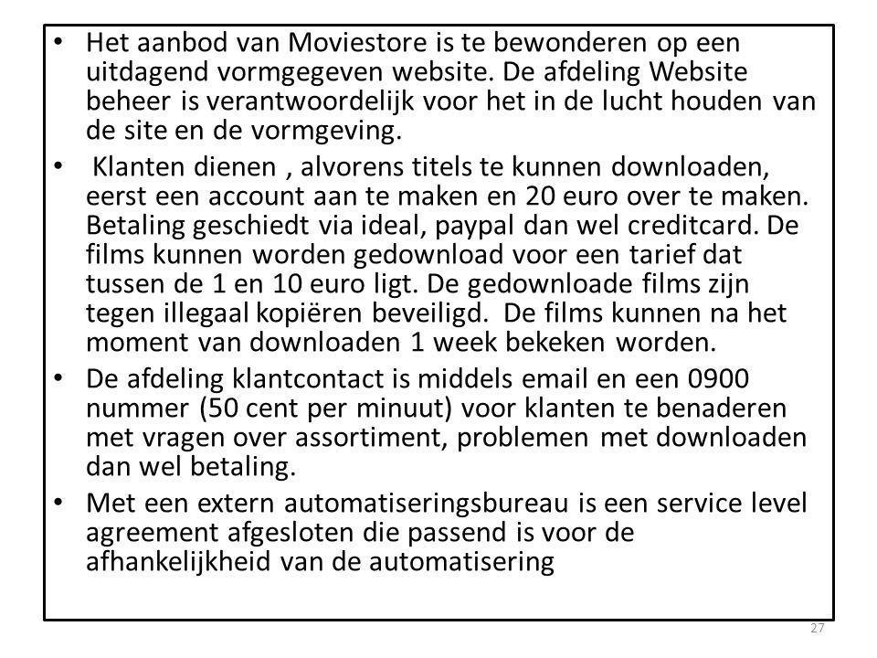 • Het aanbod van Moviestore is te bewonderen op een uitdagend vormgegeven website.
