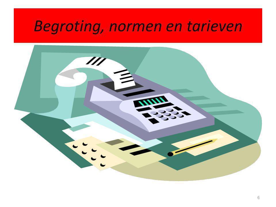1.1 Begroting, normen, tarieven • Begroting voor verkopen (op basis van tarieven per boek) • Begroting voor titelaankopen • Begroting voor automatiseringskosten • Begroting voor loonkosten 7