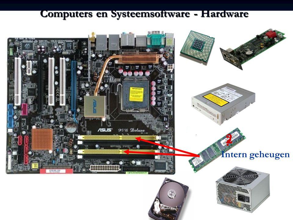 Computers en Systeemsoftware - Hardware ? 2 Intern geheugen