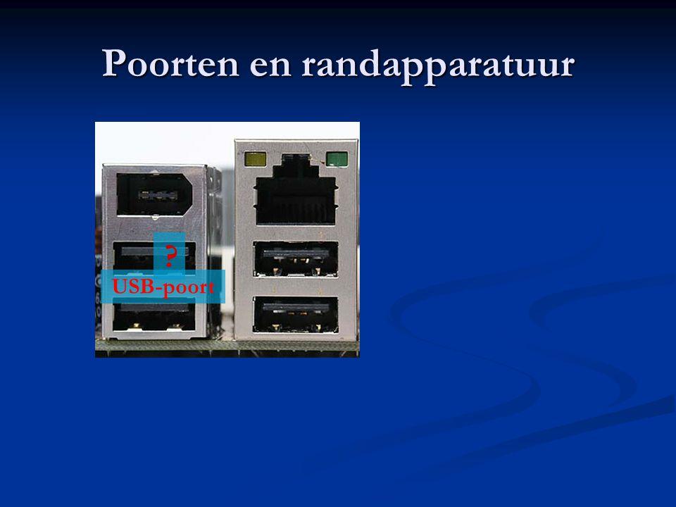 Poorten en randapparatuur USB-poort ?