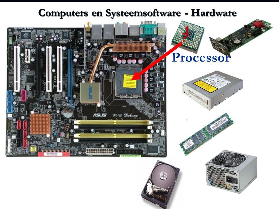 Computers en Systeemsoftware - Hardware ? 1 Processor