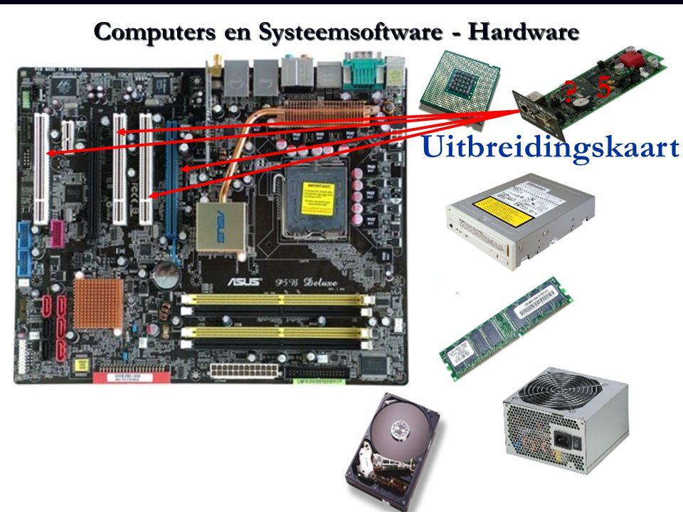 Computers en Systeemsoftware - Hardware ? 5 Uitbreidingskaart