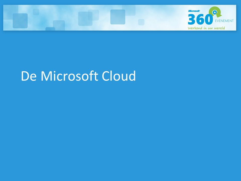 Microsoft Visie ON-PREMISES CLOUD SERVICES TV / HOMETV / HOME PCMOBIEL
