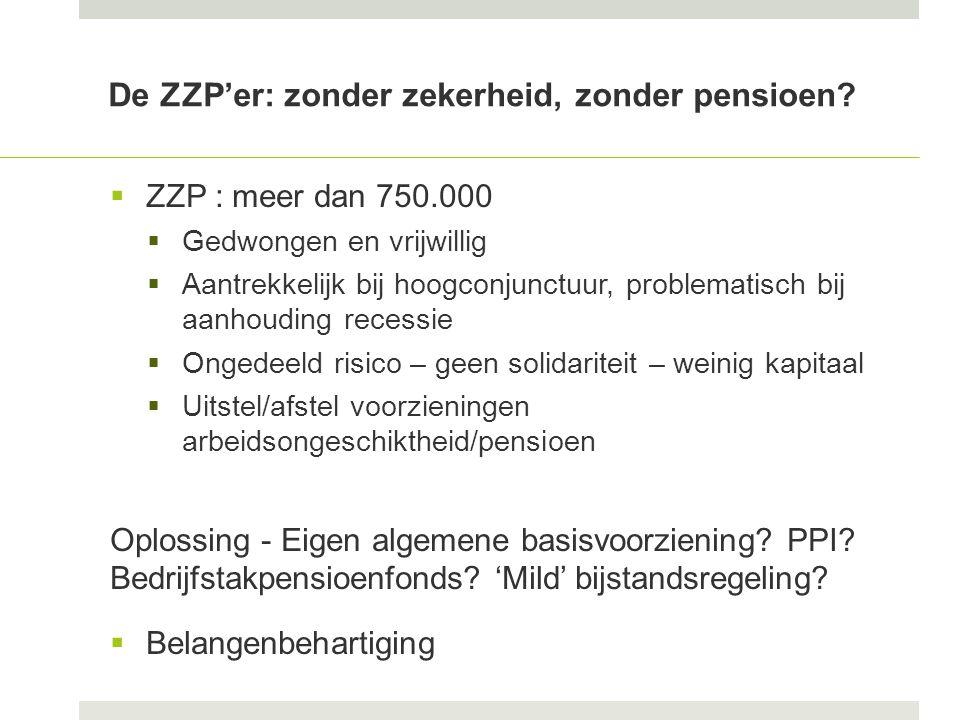 De ZZP'er: zonder zekerheid, zonder pensioen.
