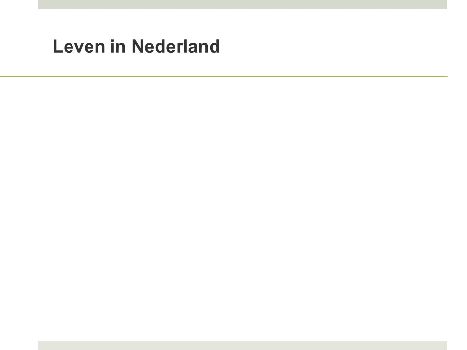 Leven in Nederland
