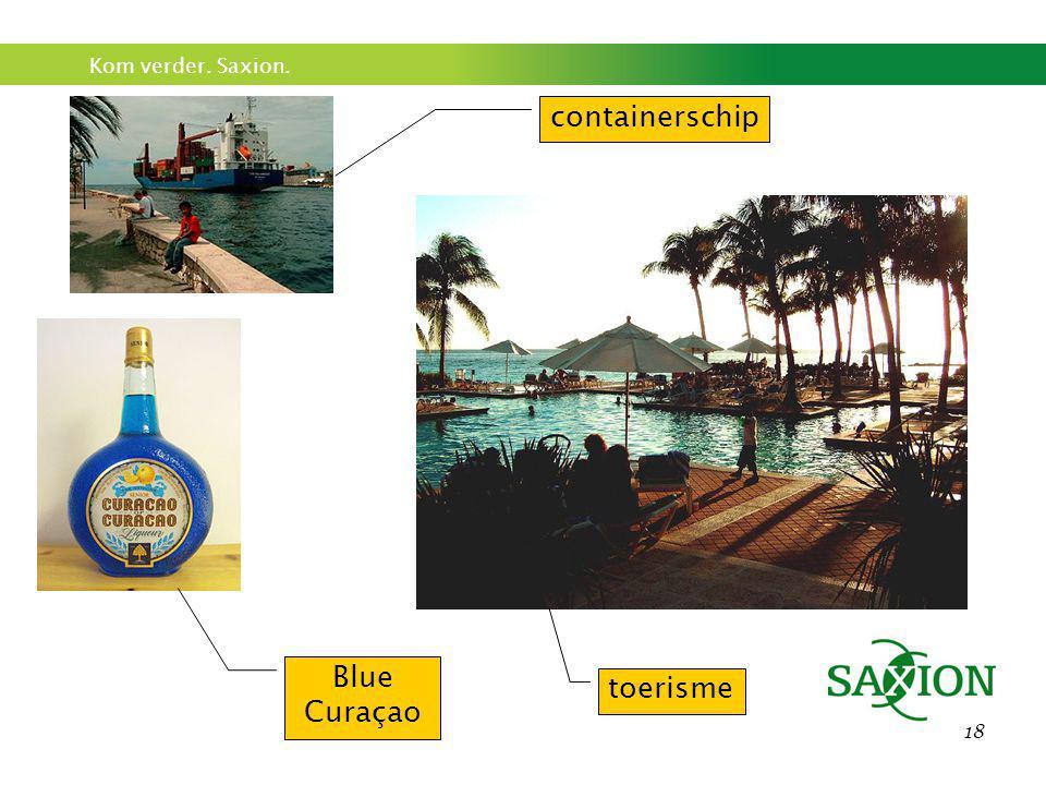Kom verder. Saxion. 18 containerschip toerisme Blue Curaçao