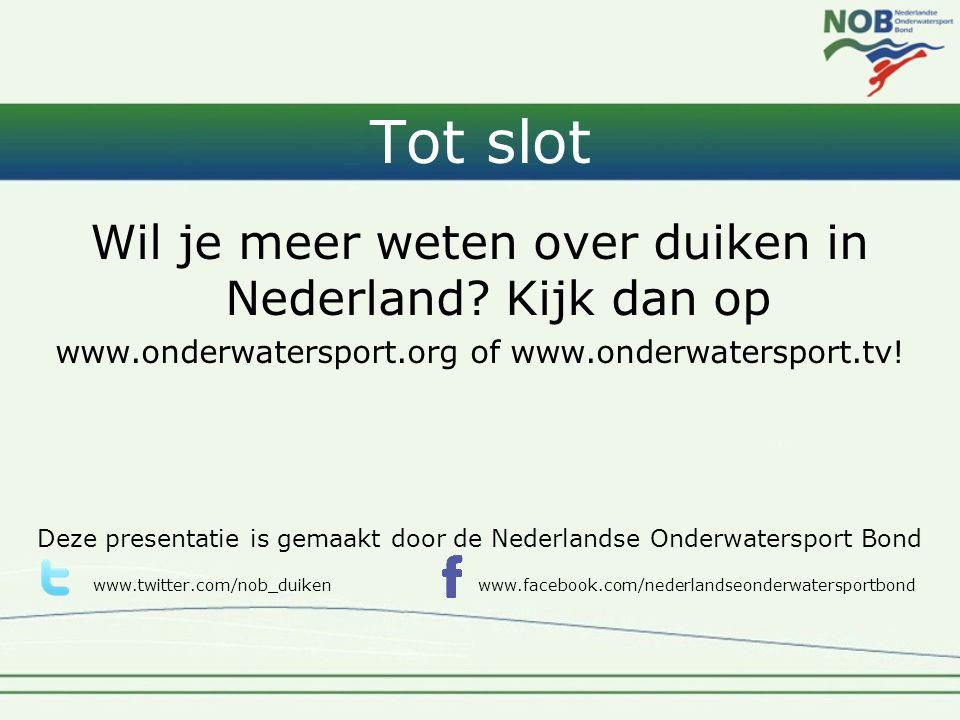 Wil je meer weten over duiken in Nederland.