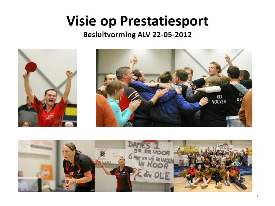 Visie op Prestatiesport Besluitvorming ALV 22-05-2012 1