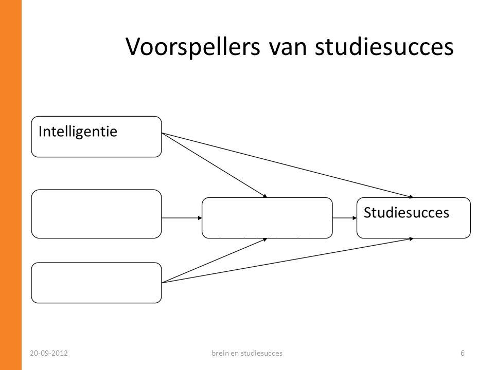 Voorspellers van studiesucces 20-09-2012brein en studiesucces6