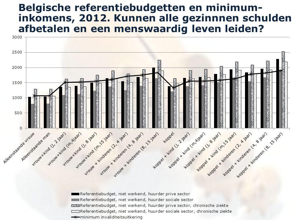 Belgische referentiebudgetten en minimum- inkomens, 2012. Kunnen alle gezinnnen schulden afbetalen en een menswaardig leven leiden?
