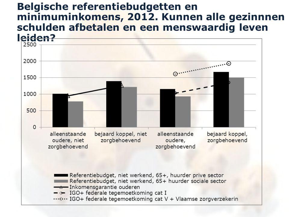 Belgische referentiebudgetten en minimuminkomens, 2012. Kunnen alle gezinnnen schulden afbetalen en een menswaardig leven leiden?