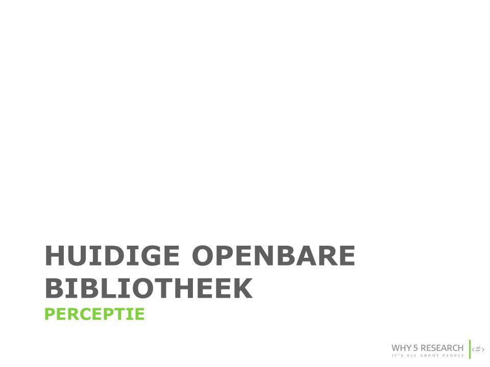 48 HUIDIGE OPENBARE BIBLIOTHEEK PERCEPTIE