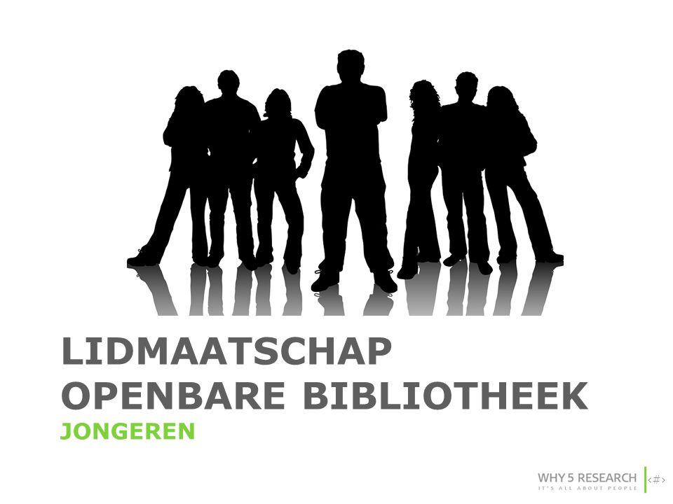 5 LIDMAATSCHAP OPENBARE BIBLIOTHEEK JONGEREN
