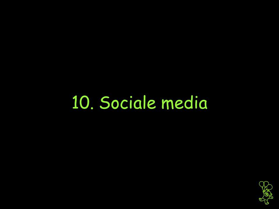 10. Sociale media