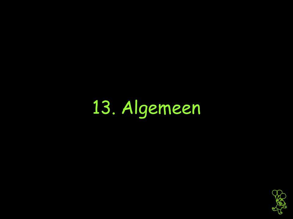 13. Algemeen