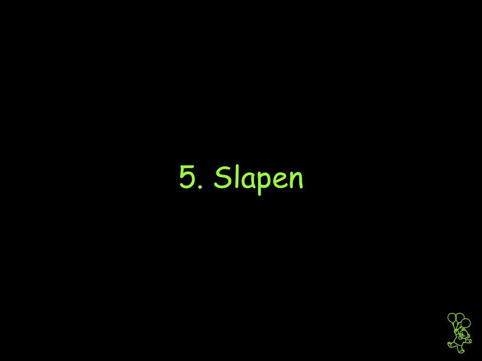 5. Slapen