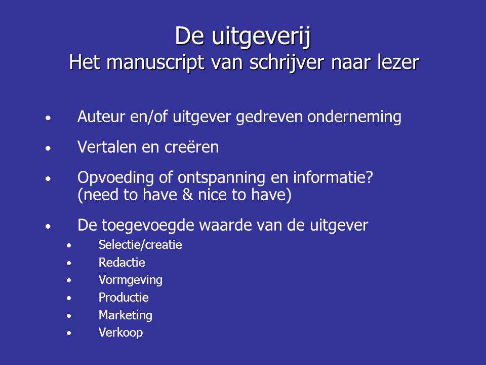 • Auteur en/of uitgever gedreven onderneming • Vertalen en creëren • Opvoeding of ontspanning en informatie? (need to have & nice to have) • De toegev