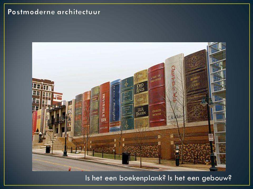 Is het een boekenplank Is het een gebouw
