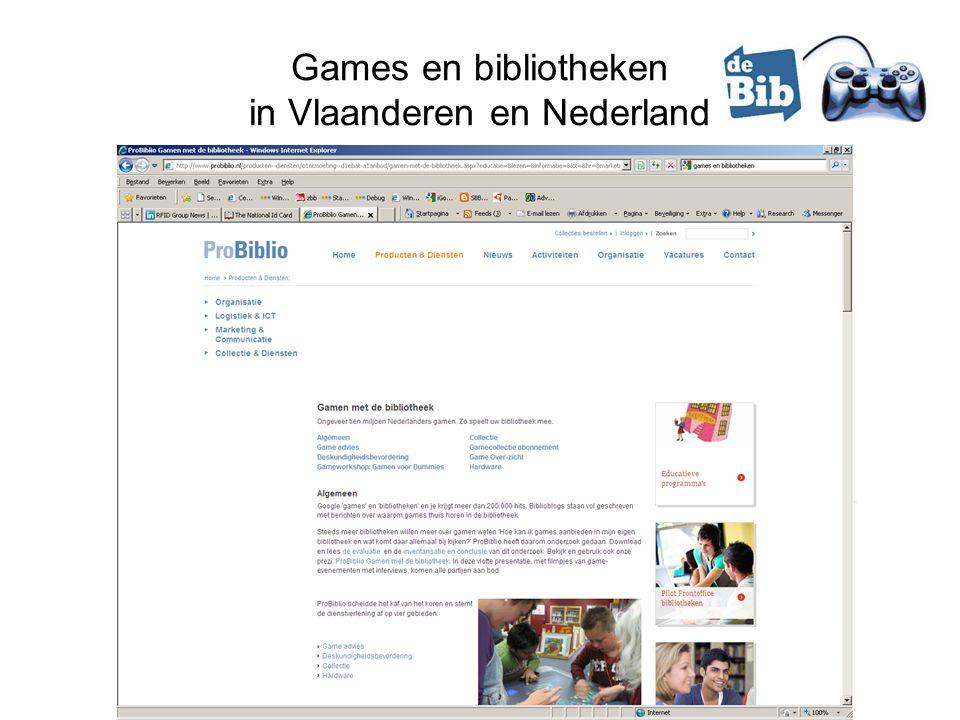 Games en bibliotheken in Vlaanderen en Nederland