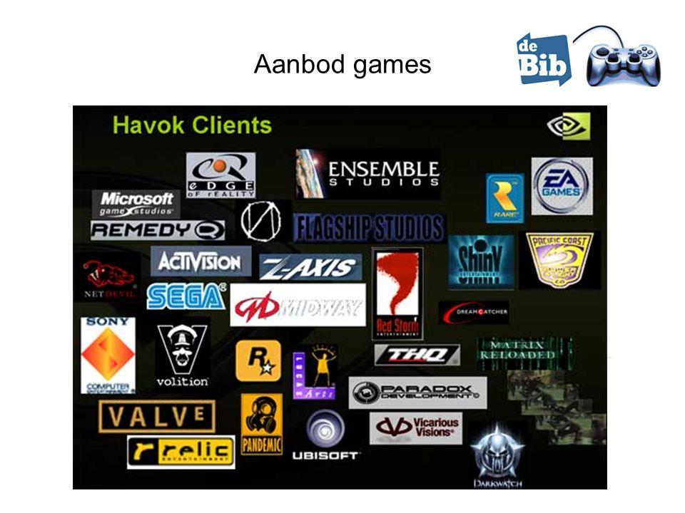 Aanbod games Provincie West-Vlaanderen