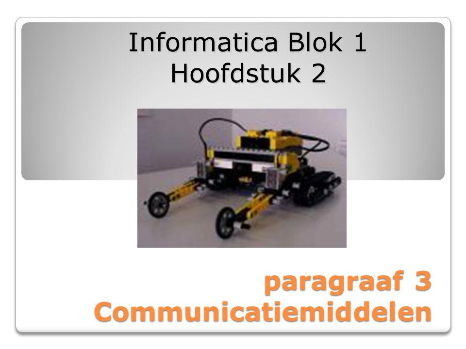 paragraaf 3 Communicatiemiddelen Informatica Blok 1 Hoofdstuk 2