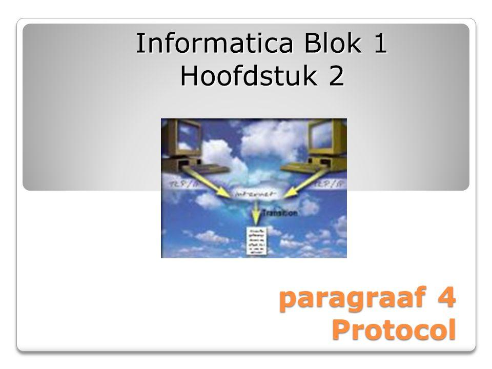 paragraaf 4 Protocol Informatica Blok 1 Hoofdstuk 2