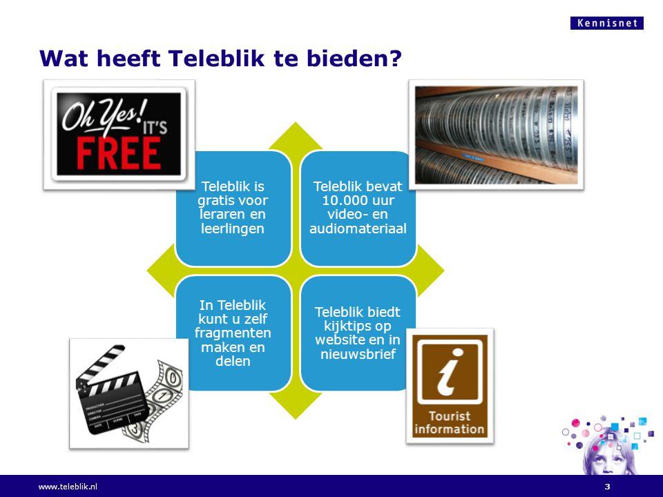 Wat heeft Teleblik te bieden.
