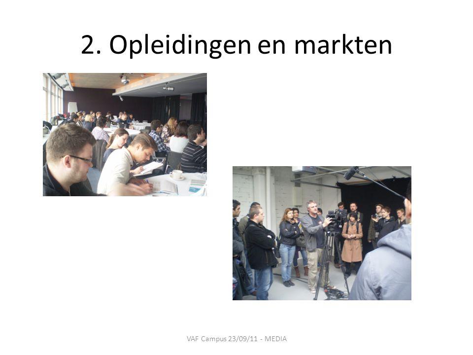 2. Opleidingen en markten VAF Campus 23/09/11 - MEDIA