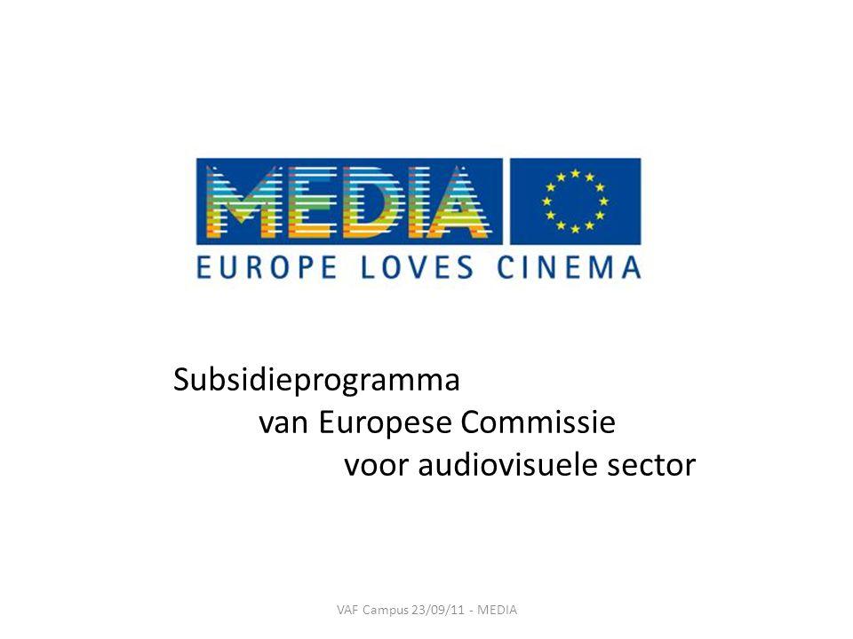 Subsidieprogramma van Europese Commissie voor audiovisuele sector