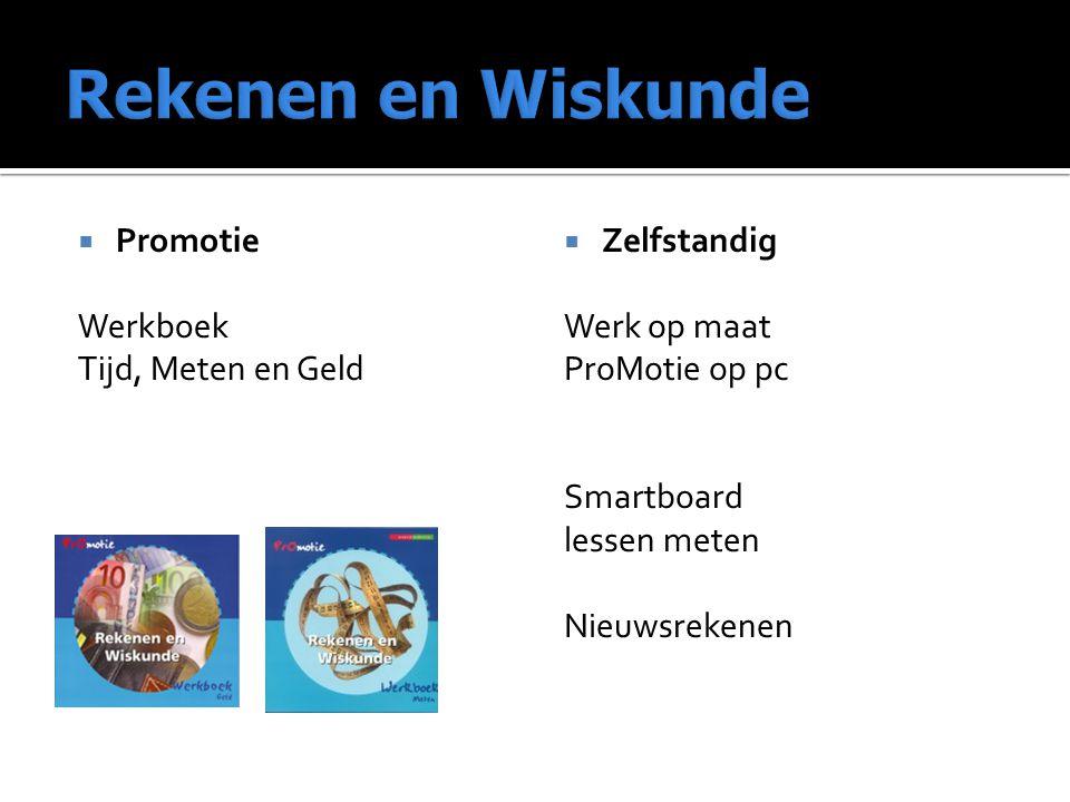  Promotie Werkboek Tijd, Meten en Geld  Zelfstandig Werk op maat ProMotie op pc Smartboard lessen meten Nieuwsrekenen