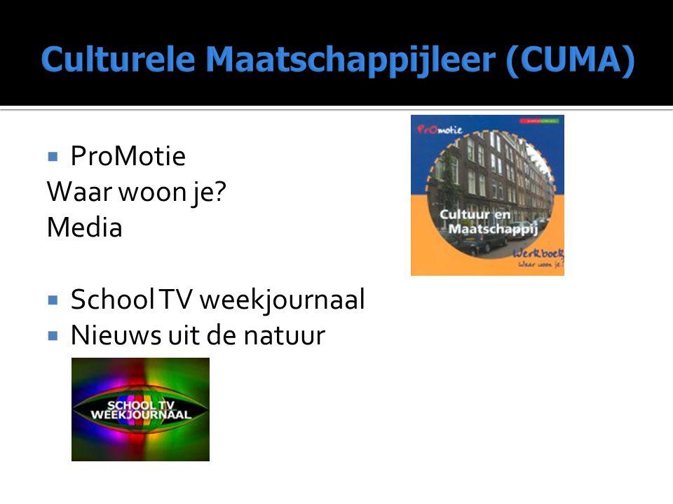  ProMotie Waar woon je? Media  School TV weekjournaal  Nieuws uit de natuur