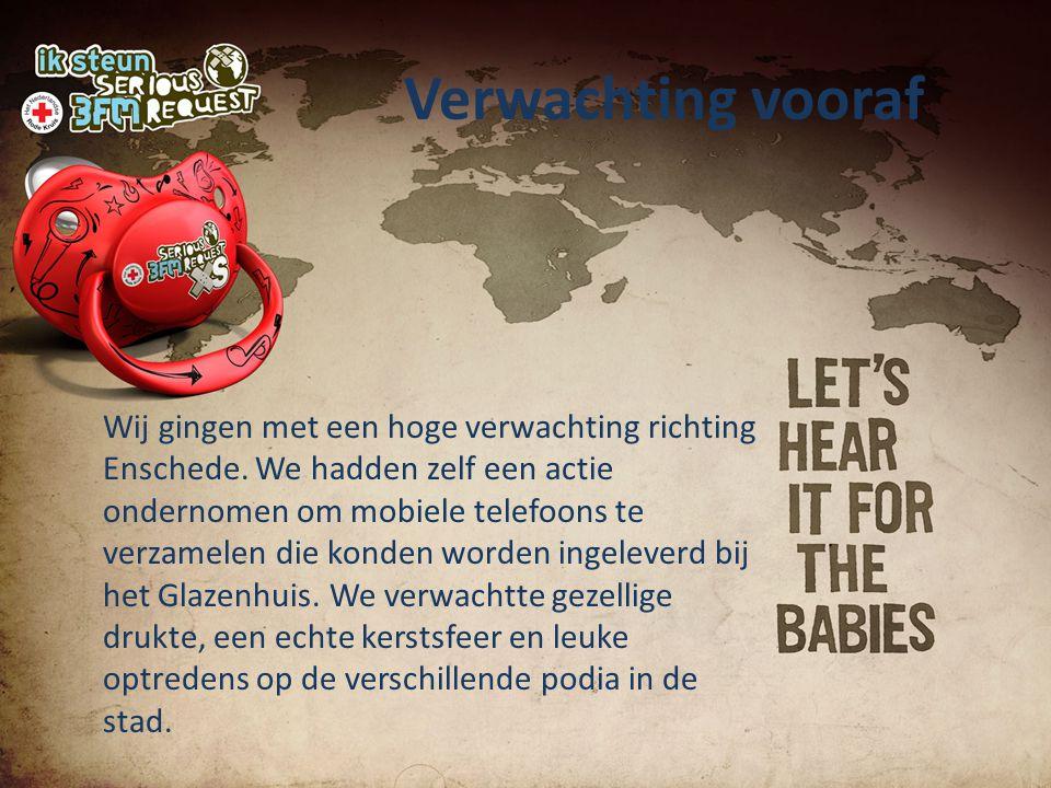 Verwachting vooraf Wij gingen met een hoge verwachting richting Enschede.