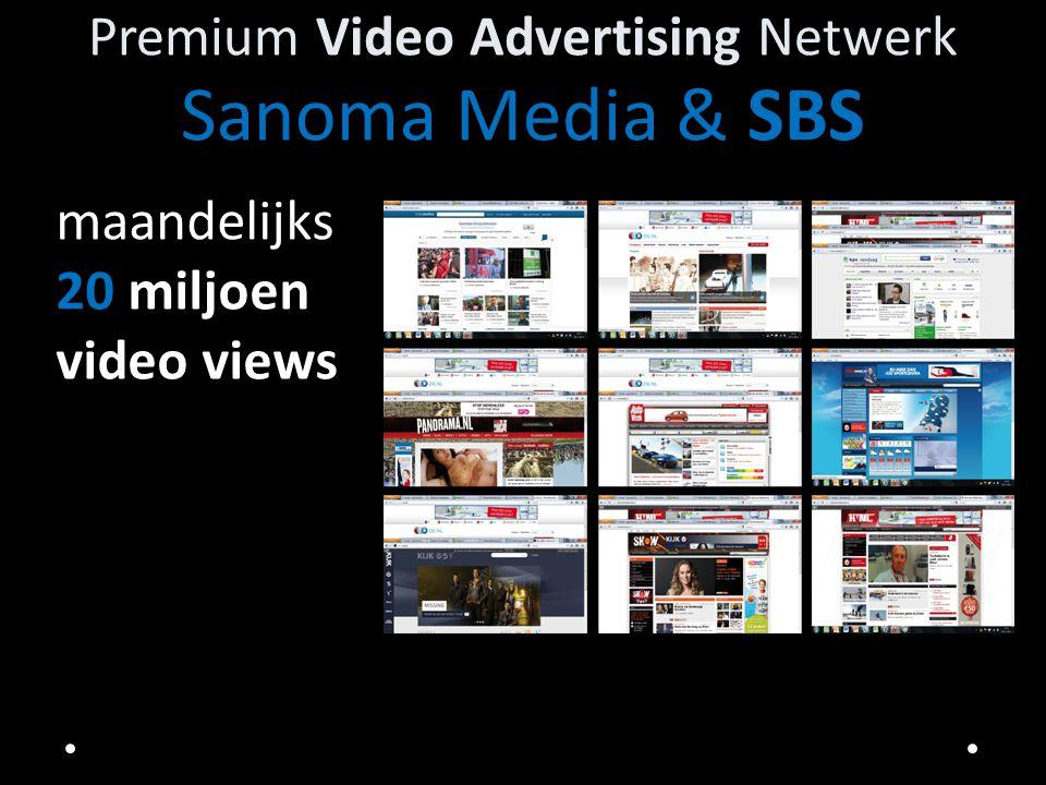 Sanoma Media en SBS premium online videopakket Sanoma Media en SBS biedt u zeer aantrekkelijke online video advertising mogelijkheden aan op ons uitgebreide netwerk.