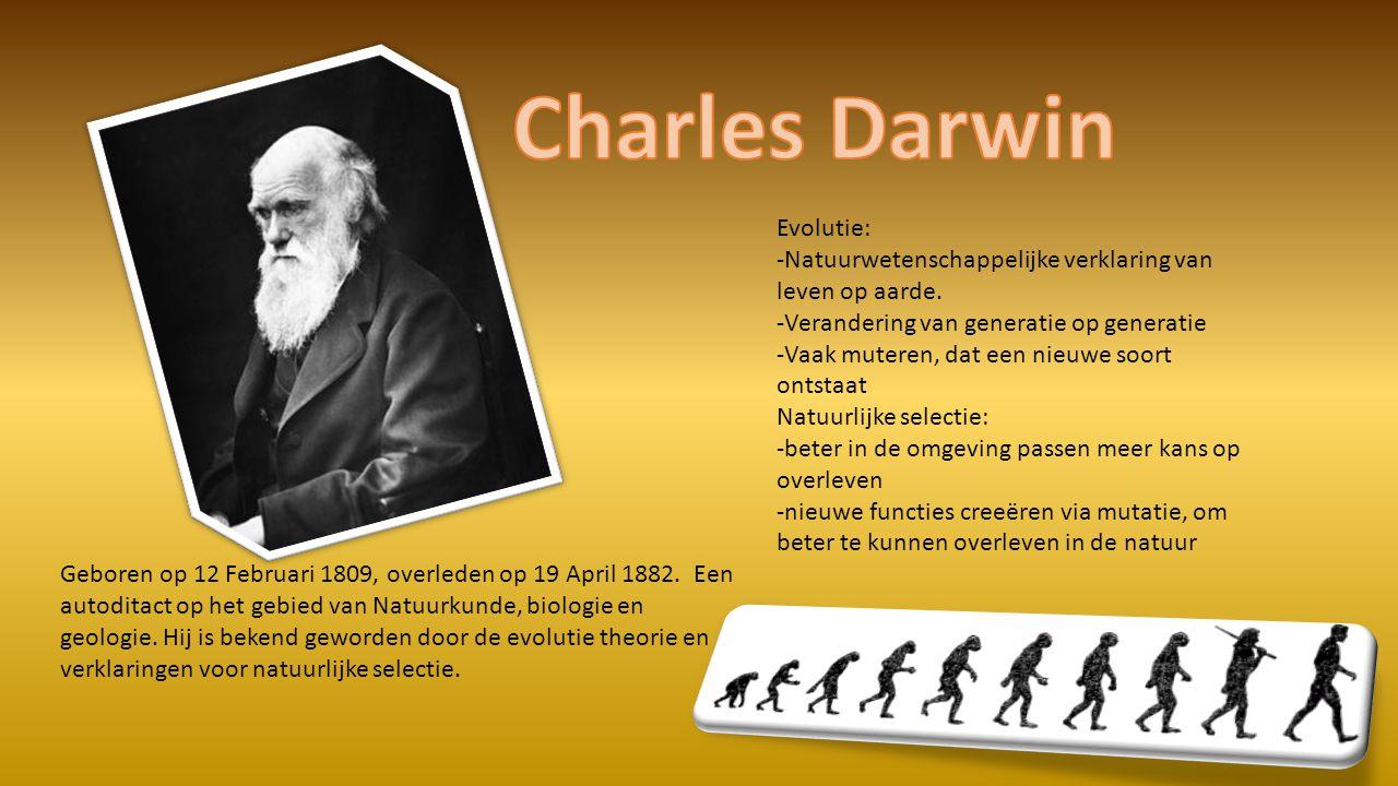 Geboren op 12 Februari 1809, overleden op 19 April 1882.