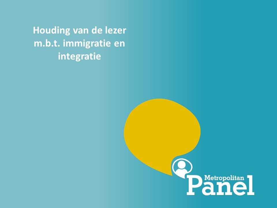 Houding van de lezer m.b.t. immigratie en integratie