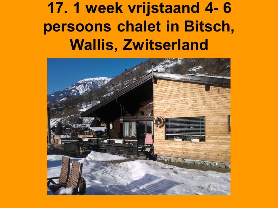 17. 1 week vrijstaand 4- 6 persoons chalet in Bitsch, Wallis, Zwitserland