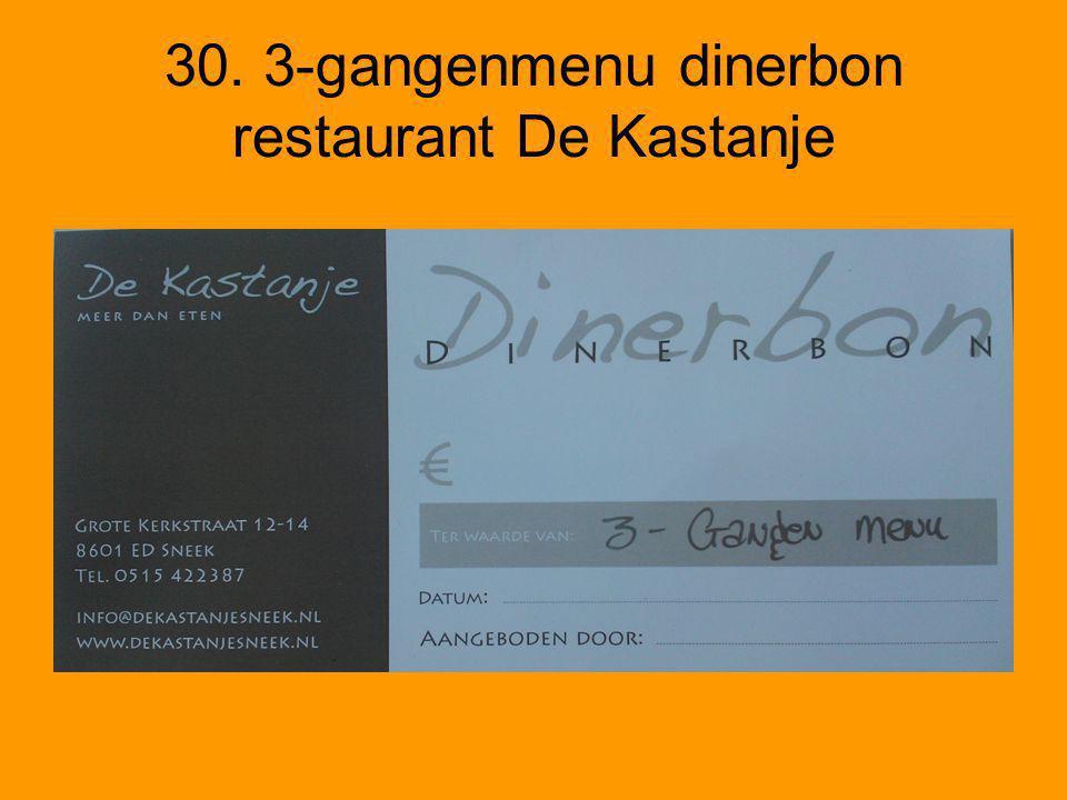 30. 3-gangenmenu dinerbon restaurant De Kastanje