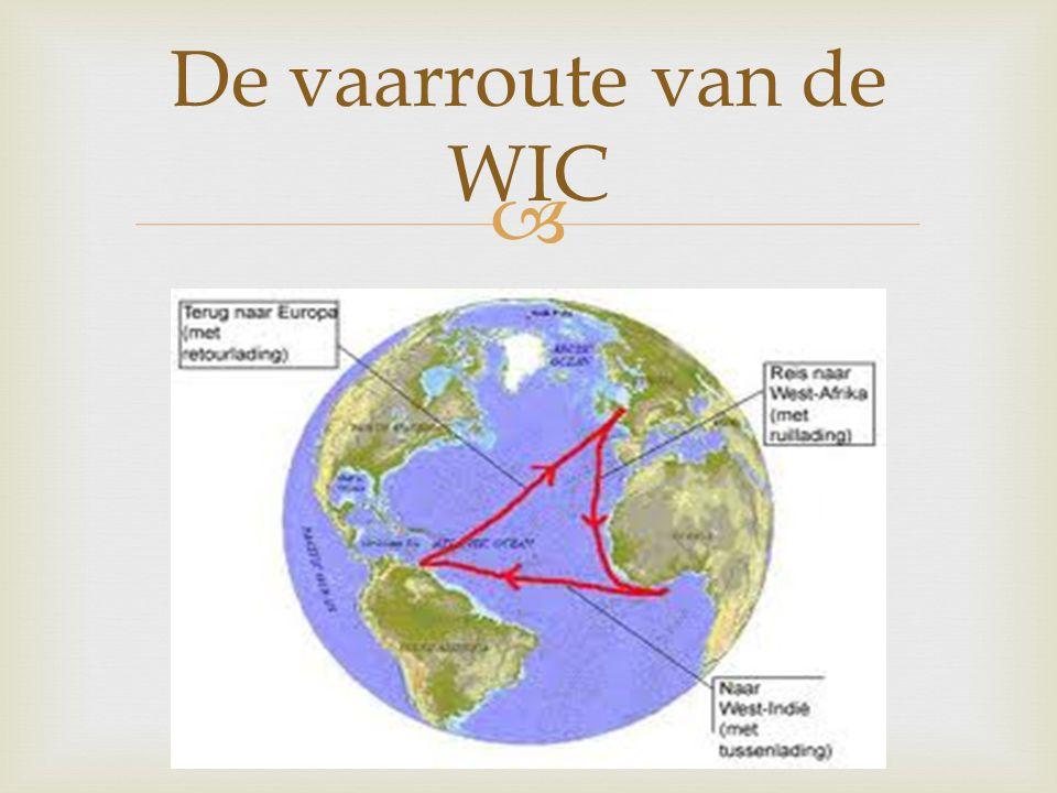  De vaarroute van de WIC