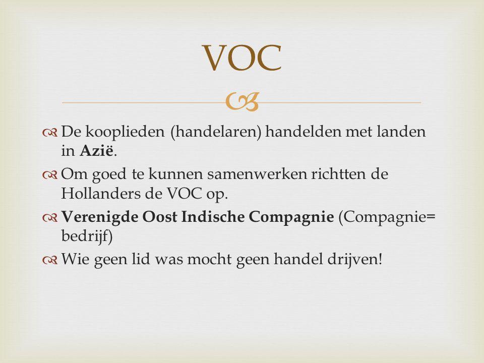 De vaarroute van de VOC
