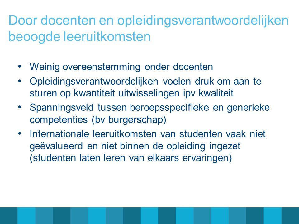 Onafhankelijk effect van uitwisseling, gecontroleerd voor score op T1, voor: o Sociale en communicatieve vaardigheden o Openheid