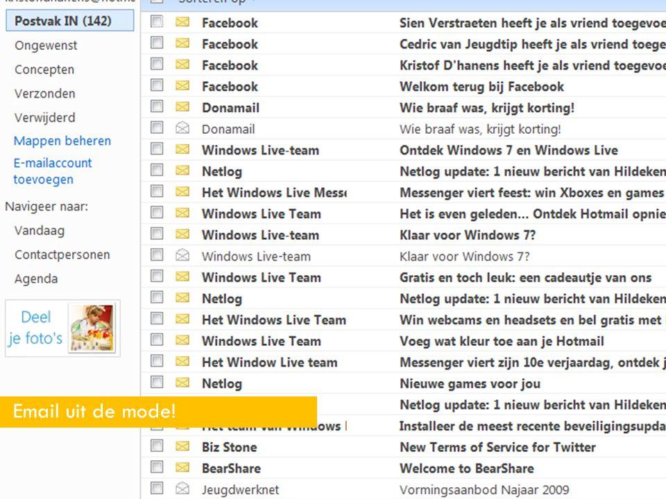 22 Email uit de mode!