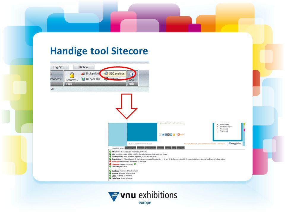Handige tool Sitecore 30