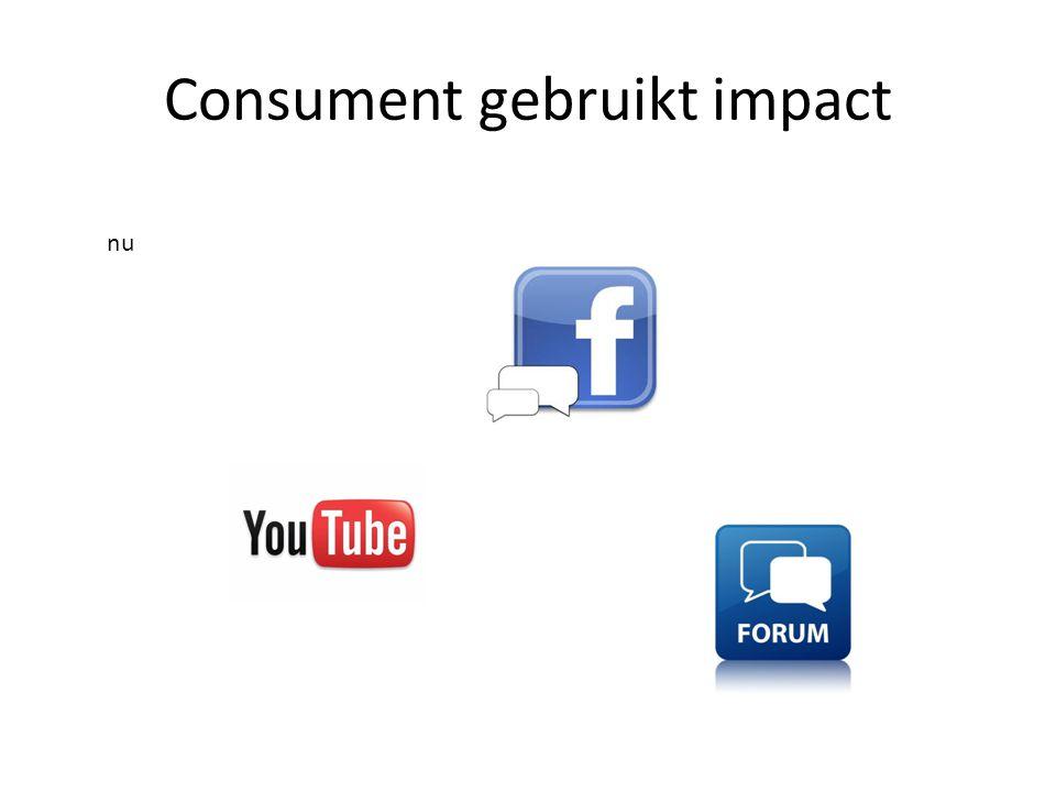 Consument gebruikt impact nu