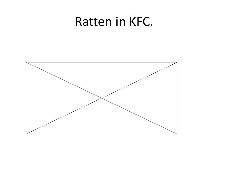 Ratten in KFC.