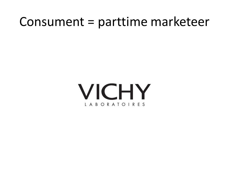 Consument = parttime marketeer