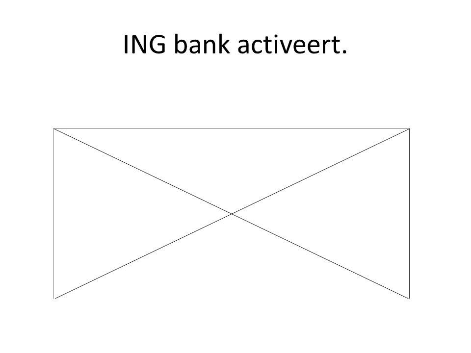 ING bank activeert.
