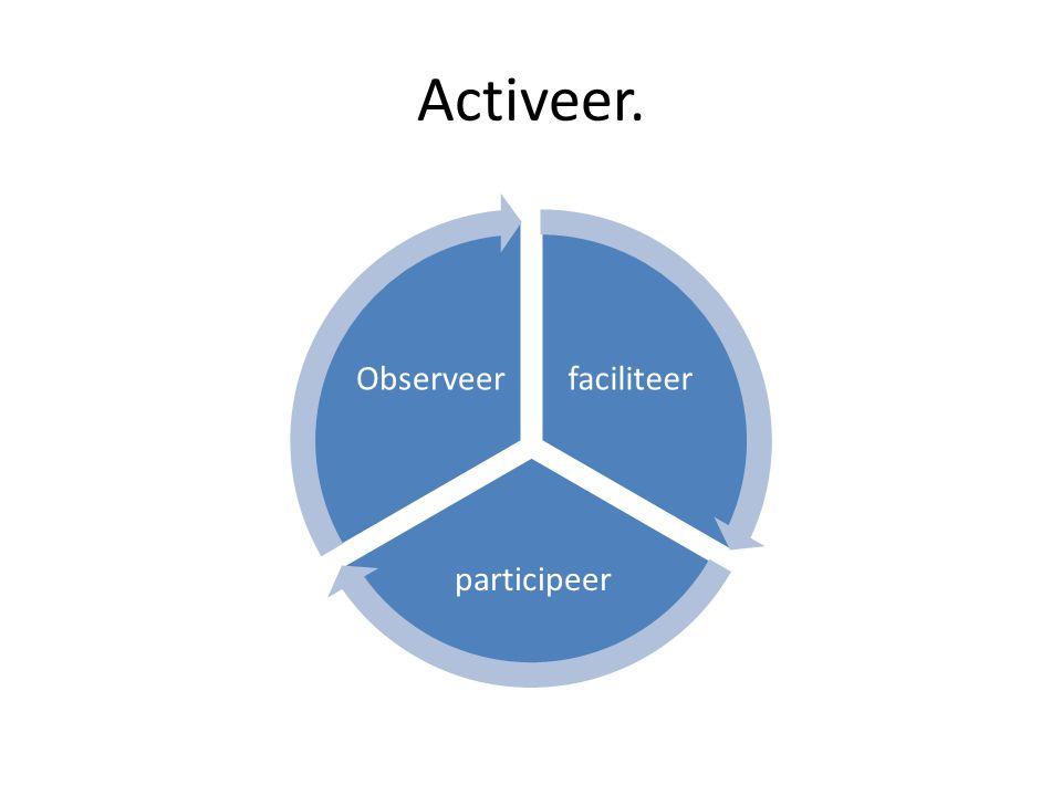 Activeer. faciliteer participeer Observeer