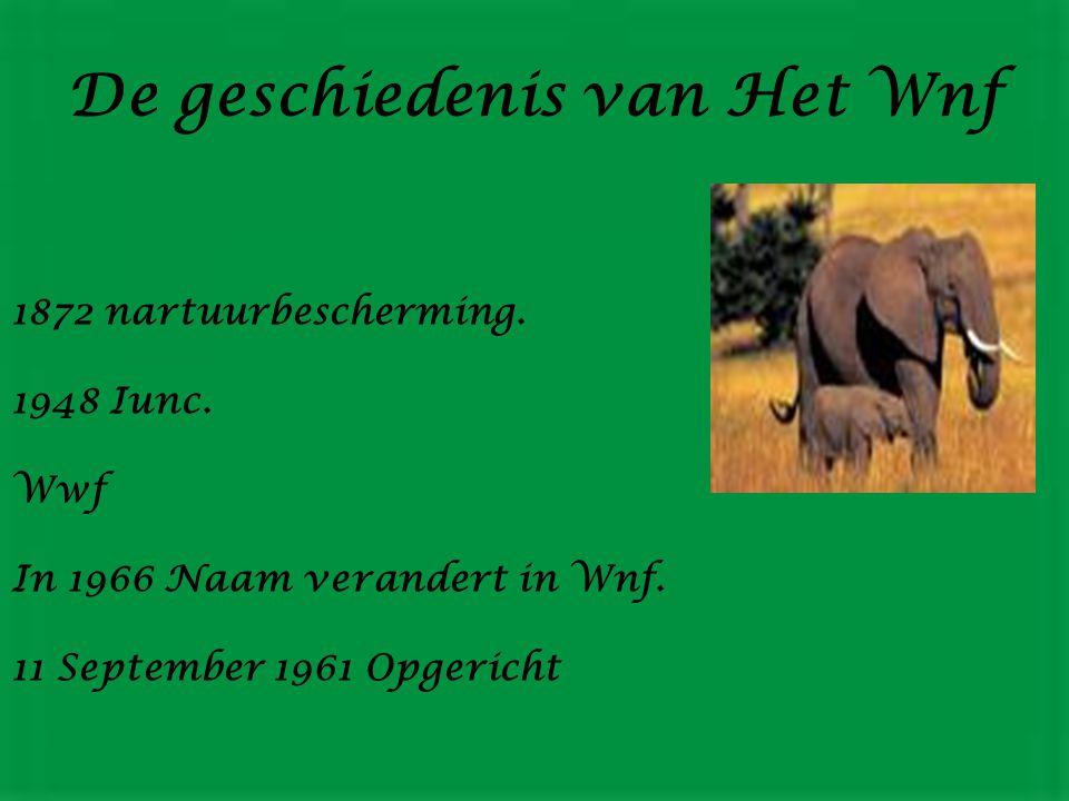 De geschiedenis van Het Wnf 1872 nartuurbescherming.