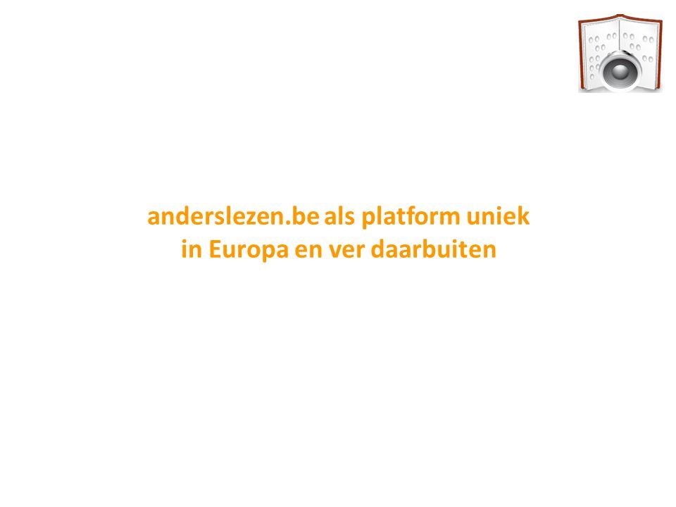 anderslezen.be als platform uniek in Europa en ver daarbuiten