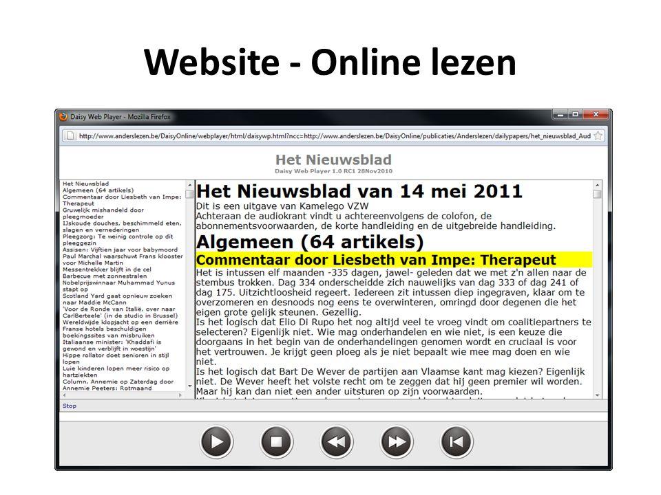 Website - Online lezen